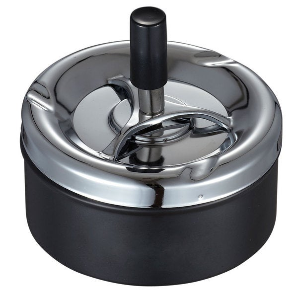 Spinner Black Spinning Ashtray For Cigarettes