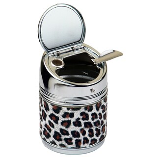 Cylinder Animal Print Stainless Steel Cigarette Ashtray