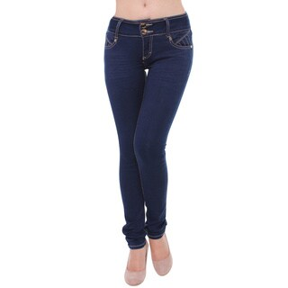Sexy Couture Women's S66-PS Mid Rise Skinny Jeans