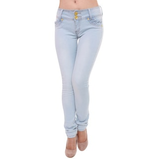 Sexy Couture Women's S73-PS Mid Rise Skinny Jeans