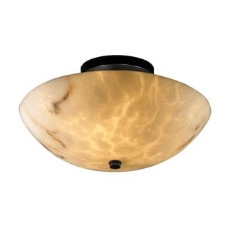 Justice Design Group LumenAria-Ring 2-light Semi-Flush, Black