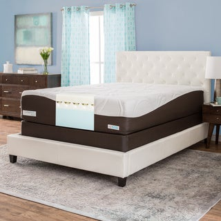 ComforPedic from BeautyRest 14-inch Queen-size Gel Memory Foam Mattress Set