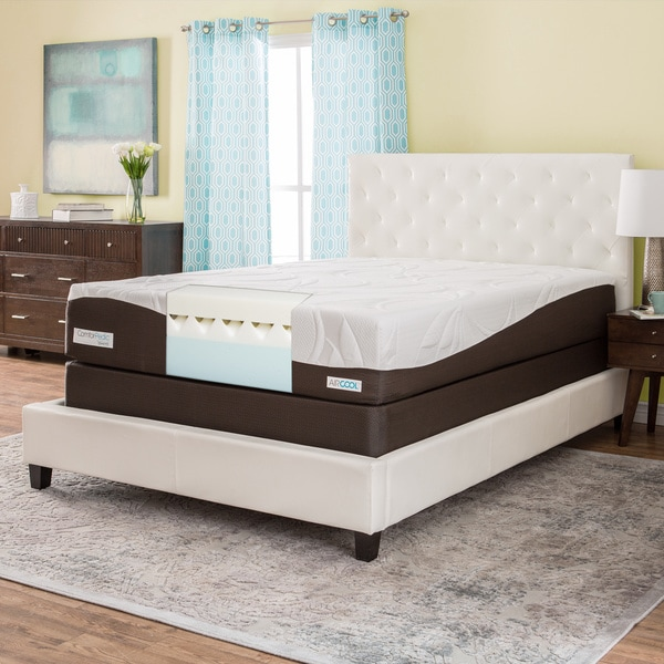 ComforPedic from Beautyrest 12-inch Queen-size Gel Memory Foam Mattress Set
