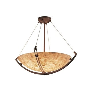 Justice Design Group Alabaster Rocks 8-light Crossbar Pendant