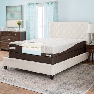 ComforPedic from Beautyrest 10-inch Queen-size Gel Memory Foam Mattress Set