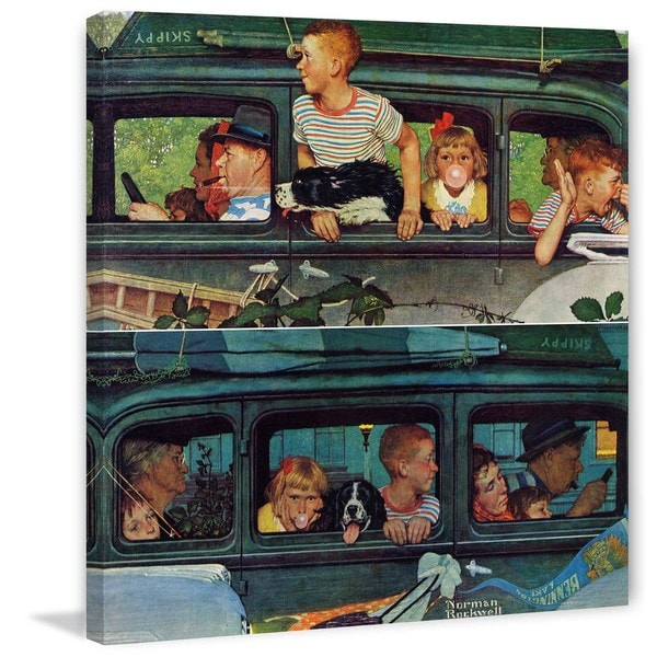 "Marmont Hill - ""Coming and Going"" by Norman Rockwell Painting Print on Canvas"