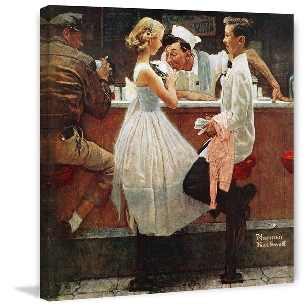 "Marmont Hill - ""After the Prom"" by Norman Rockwell Painting Print on Canvas"