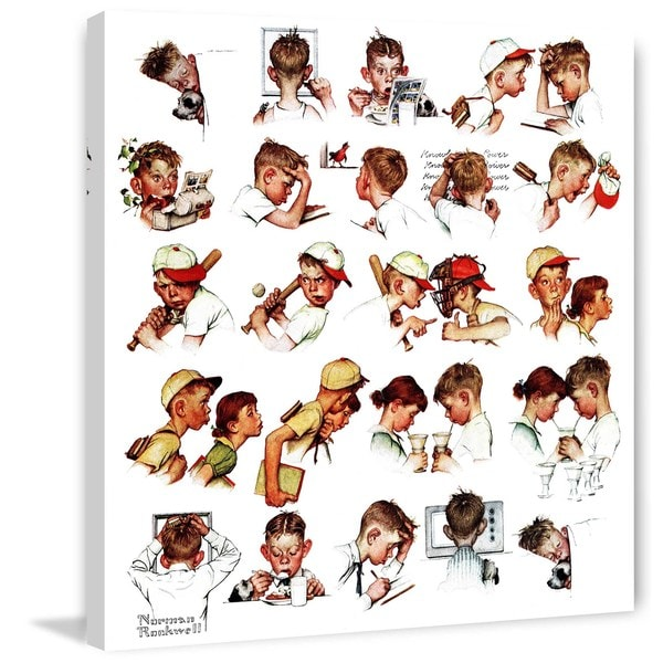 """Marmont Hill - """"Day in the Life of a Boy"""" by Norman Rockwell Painting Print on Canvas"""