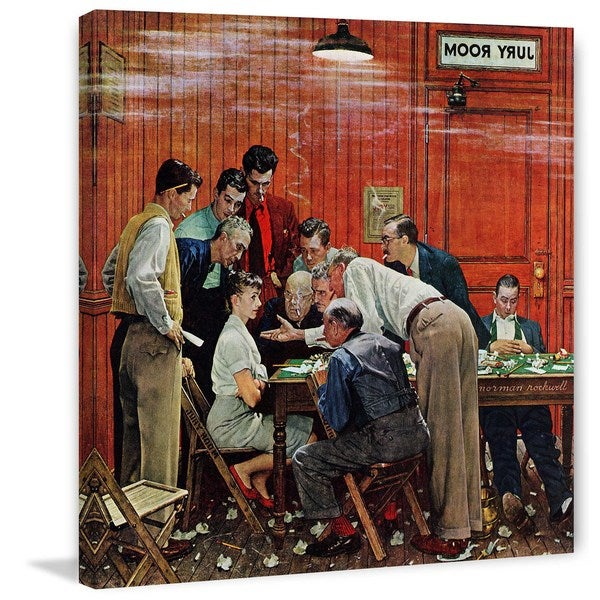 "Marmont Hill - ""Jury"" by Norman Rockwell Painting Print on Canvas"
