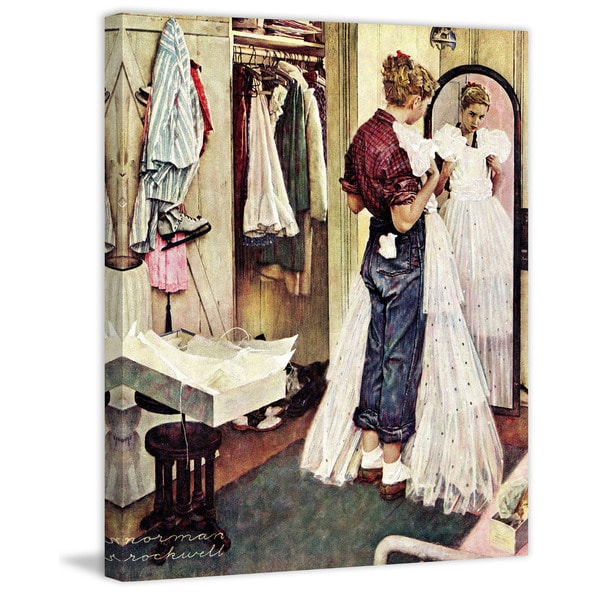 "Marmont Hill - ""Prom Dress"" by Norman Rockwell Painting Print on Canvas"