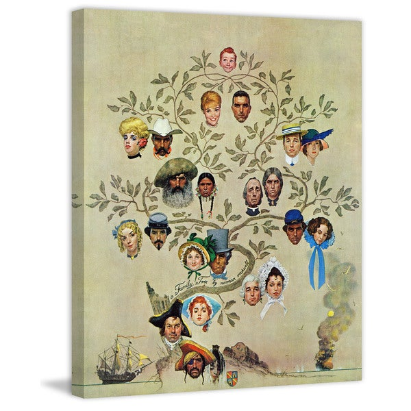 "Marmont Hill - ""Family Tree"" by Norman Rockwell Painting Print on Canvas"