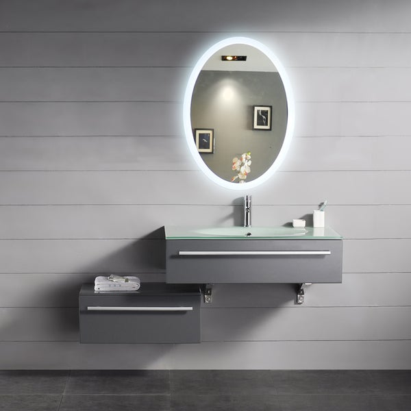 Backlit Oval Mirror (24x32)