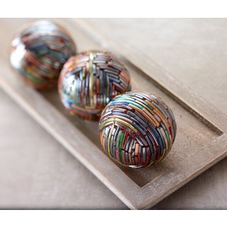 Colorful Bangle Bracelet Deco Balls (Set of 4)