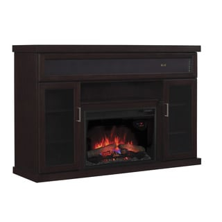 Tenor Expresso Finish 26-inch Classic Flame Electric Media Mantel Fireplace