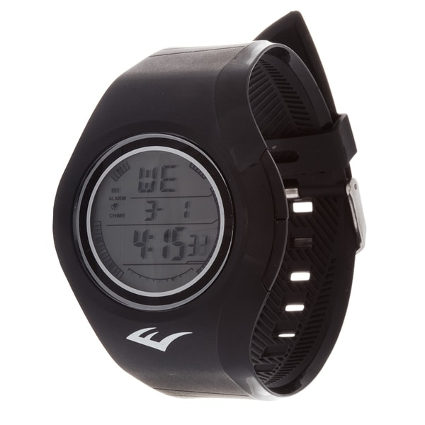 Everlast Retro Kids Digital Round Sport Mens's LED Watch with Rubber Strap