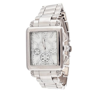 Xtreme Boyfriend Women's Silver Square Case and Strap Watch