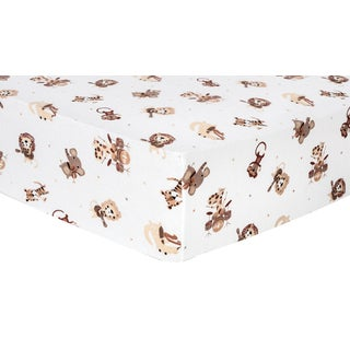 Trend Lab Safari Rock Band Deluxe Flannel Fitted Crib Sheet