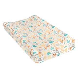 Trend Lab Lullaby Zoo Deluxe Flannel Changing Pad Cover