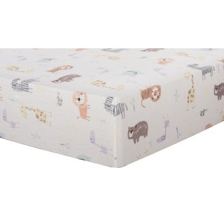 Trend Lab Crayon Jungle Deluxe Flannel Fitted Crib Sheet