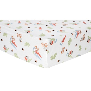 Trend Lab Forest Gnomes Deluxe Flannel Fitted Crib Sheet