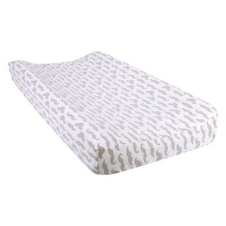 Trend Lab Mustaches Deluxe Flannel Changing Pad Cover