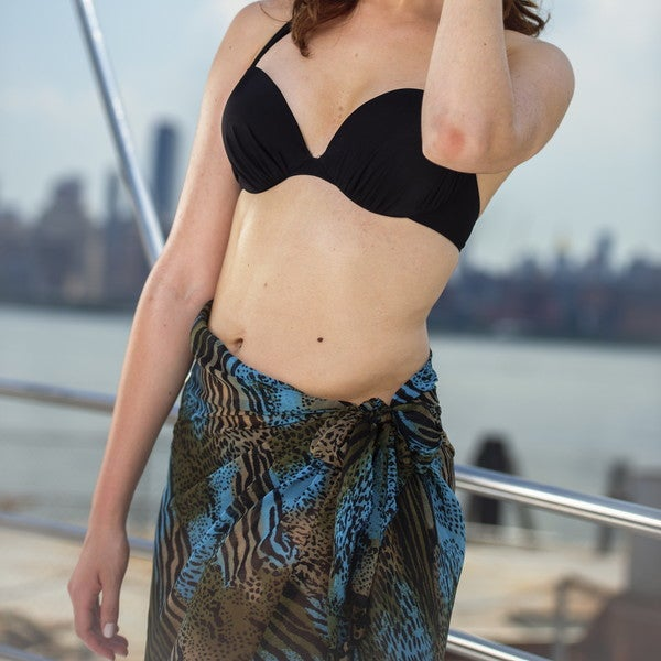 Beach Glam Multi-Colored Leopard Animal Print Sarong