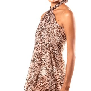 Beach Glam Cheetah Print Sarong/ Scarf (India)