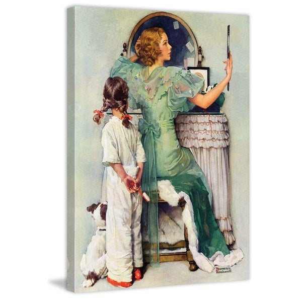 "Marmont Hill - ""Going Out"" by Norman Rockwell Painting Print on Canvas"