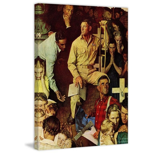 "Marmont Hill - ""The Long Shadow of Lincoln"" by Norman Rockwell Painting Print on Canvas"