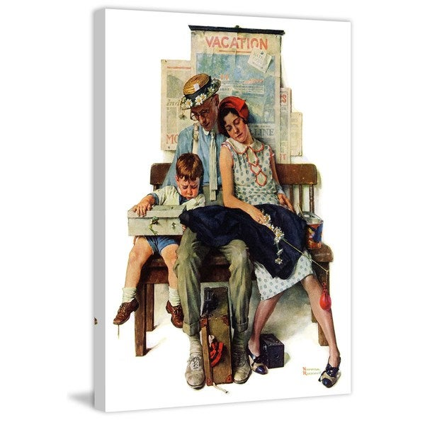 "Marmont Hill - ""Home from Vacation"" by Norman Rockwell Painting Print on Canvas"