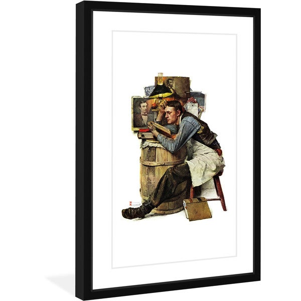 "Marmont Hill - ""Law Student"" by Norman Rockwell Painting Print on Canvas"