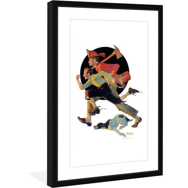 """Marmont Hill - """"To the Rescue"""" by Norman Rockwell Painting Print on Canvas"""