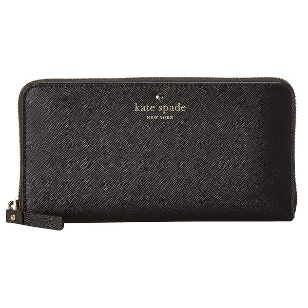 Kate Spade New York Cedar Street Lacey Zip Around Continental Wallet Black
