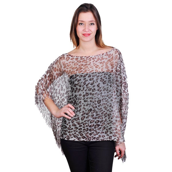 J. Furmani Women's Leopard Woven Top