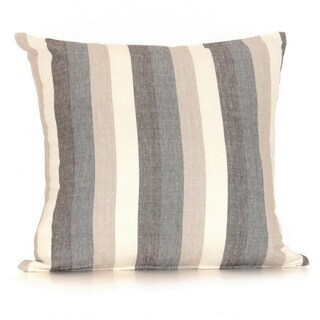 Striped Down Filled 20-inch Throw Pillow