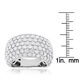 Luxurman 14k White Gold 4ct TDW Diamond Statement Ring (G-H, VS1-VS2)