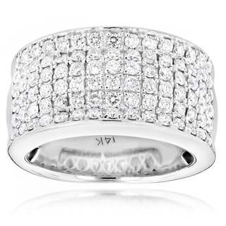 Luxurman 14k Gold Men's 2ct TDW Diamond Designer Wedding Band (G-H, SI1-SI2)