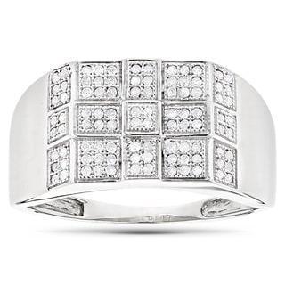 Luxurman 10k Gold Men's 1/3ct TDW Diamond Ring (H-I, SI1-SI2)
