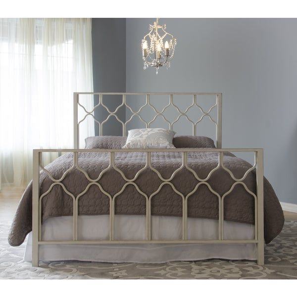 Honeycomb Deluxe Headboard - Antique Brushed White