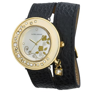 Laura Ashley Women's Stone Accent Colored Wrap Japanese Quartz Watch