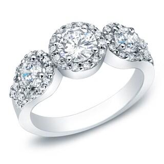 Auriya 14k Gold 1 1/5ct TDW Round Diamond Engagement Ring (G-H, I1-I2)