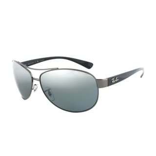 Ray-Ban RB 3386 004/82 Polarized Aviator Sunglasses - Gunmetal Frame and Grey Lenses