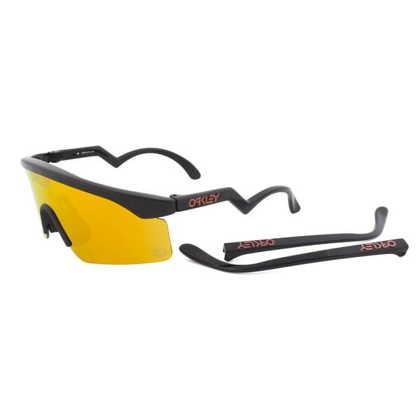 Oakley RazorBlades Sunglasses OO9140-12, Black Frame, Fire Iridium Lens