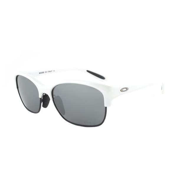 Oakley RSVP Sunglasses OO9204-05, Arctic White Frame, Black Iridium Polarized Lens