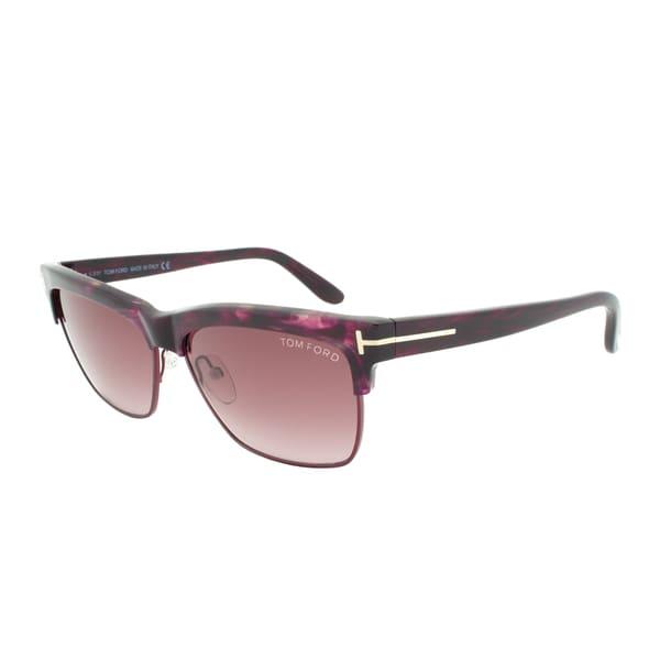 Tom Ford Montgomery Sunglasses TF233 69T, Violet Havana Frame, Violet Gradient Lens
