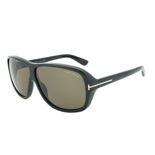 Tom Ford Blake Sunglasses TF242 01N, Black Frame, Green Lens