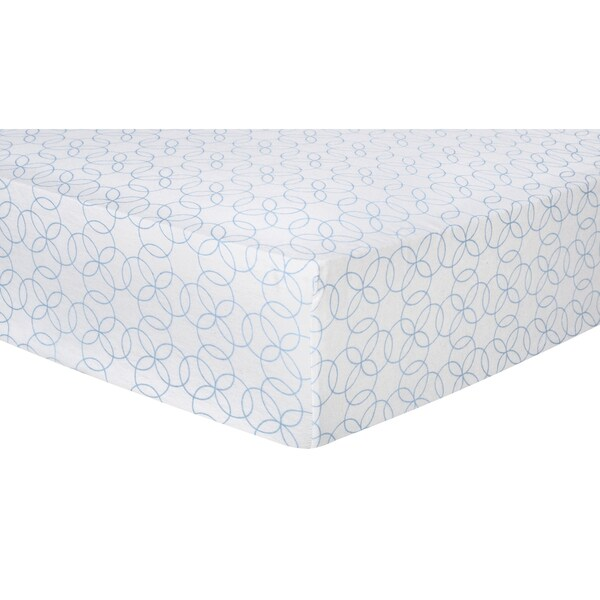 Trend Lab Blue Circles Deluxe Flannel Fitted Crib Sheet