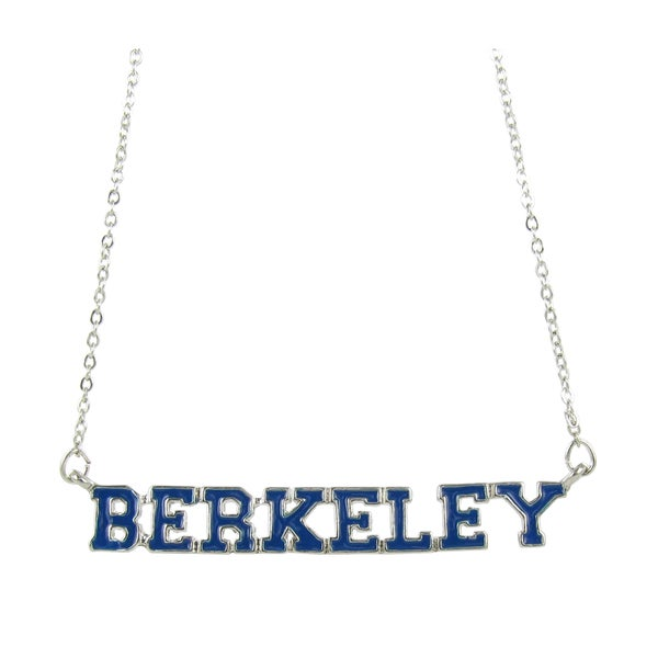 NCAA UC Berkley Suspended Block Navy Blue Berkeley Necklace