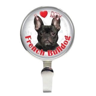 iLeesh I Love My French Bulldog Black Leash Holder
