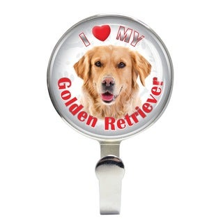 iLeesh I Love My Golden Retreiver Leash Holder